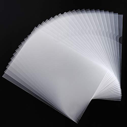 Cartelline A4 Trasparenti a L Formato, confezione da 30, 180 micron, Cartelle di File Documenti A4 in Polipropilene per Scuola, ufficio, A4 Copertina per Fogli di Protezione -Trasparente
