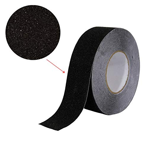 """Houseables Anti Slip Tape, Grip Tapes, Black, 80 Grit, 60' x 2"""", Treads Non Slip, Safety, High Friction, Strong Abrasive for Boats, Steps, Stairs, Ramps, Ladders, Forklifts, Indoor/Outdoor"""