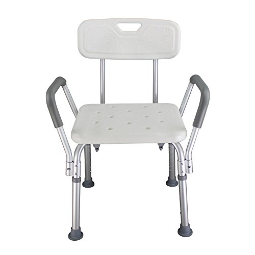 Z ZTDM 450LBS Shower Chair Medical 6 Adjustable Height,Bath Seat Stools Bench with Antiskid Feets