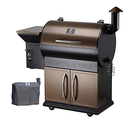 Z Grills Wood Pellet Grill  Smoker with 2019 Newest Digital Controls ,700 Cooking Area 8- in-1...