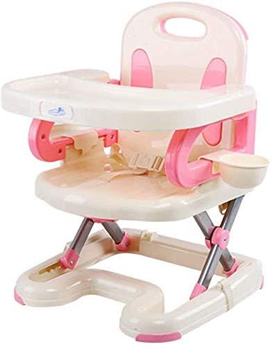 Tabla niños Conjunto de bandeja extraíble Comedor viajes de alimentación del bebé Las sillas plegables Trona silla infantil Escritorio y silla for niños (de color: rosa, tamaño: 40 * 41 * 55 cm) Jiale