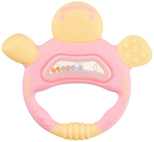 リッチェル Richell 歯がため ケース付 かめさん ピンク 3か月頃から対象