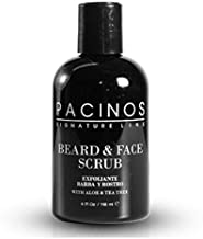 Pacinos Beard and Face Scrub Shave System - Natural Shampoo with Aloe Vera and Tea Tree Extract, Removes Impurities, Organic, 4 fl. oz.