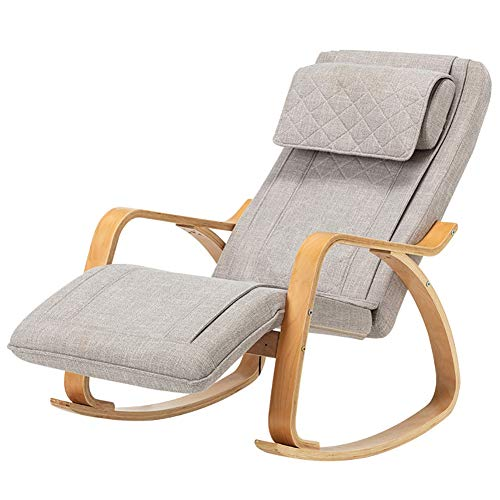 Great Deal! Massage Chair Full Back Massager Foldable Legs Vibration Heat Rocking Recliner 3 Massage...