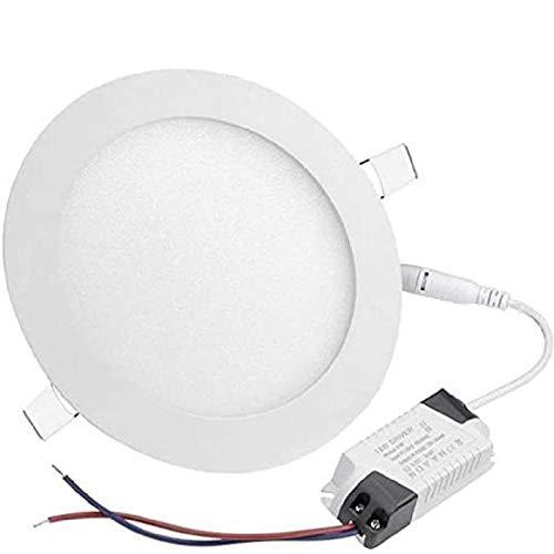 Iluminación puntual de panel empotrado LED redondo ultradelgado, moldura de deflector, accesorio...