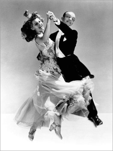 Poster 50 x 70 cm: Rita Hayworth und Fred Astaire von Everett Collection - hochwertiger Kunstdruck, neues Kunstposter