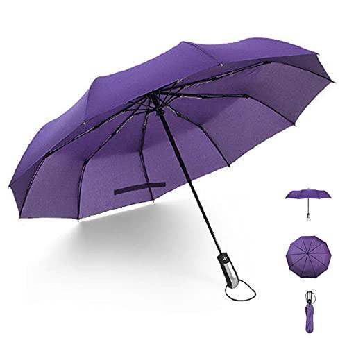 WJY Paraguas Impermeable de Viaje, Completamente Automatico Paraguas Plegable Hombres y Mujeres Negocio de Gran Tamaño...