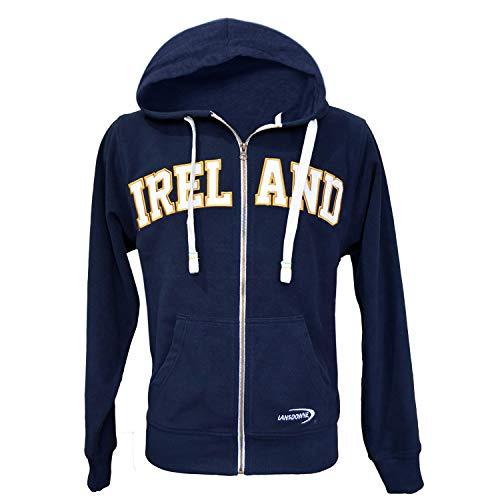 Lansdowne Navy Ireland Full Zip Fleece Hoodie (X-Large)