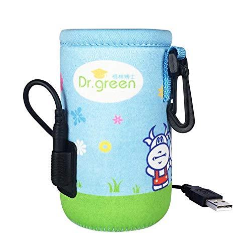 Rich-home Muttermilch Isolierungs Beutel Baby Flaschen Kühltaschen für kampierende Reise, USB Heizung, konstante Temperatur ungefähr 42 ℃
