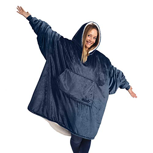 THE COMFY Original | Oversized Microfiber & Sherpa Wearable Blanket, Seen On Shark Tank, One Size...