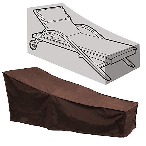HONCENMAX Schutzhülle für Liegen | Abdeckhauben für Liegen | Sonnenliege Liegestuhl Abdeckung | Abdeckung für Gartenliegen & Relaxliegen | Wetterschutz | Wasserdicht | UV-Schutz