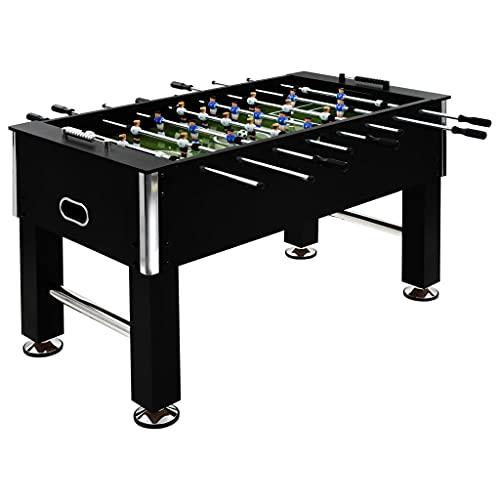 vidaXL Futbolín de Acero 60 kg 140x74,5x87,5 cm Negro Equipos Juegos Interior