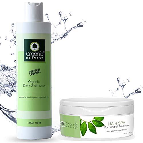 Organic Harvest Daily Shampoo for Women, Girls, Men | Best Organic Shampoo | Mineral Oil, Sulphate, Paraben & chemical free (225ML, Daily Shampoo + Hair Spa)