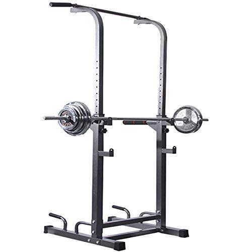 GTYHJUIK Fitness Squat Barbell Rack, Barra del Levantamiento Squat Rack, Dominadas y Jaula Sentadillas Entrenamiento, Multifuncional Soporte Ajustable Peso Máximo de 260kg