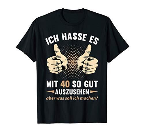 40. Geburtstag Mann Frau Jahrgang 1980 40 Jahre Geschenk T-Shirt