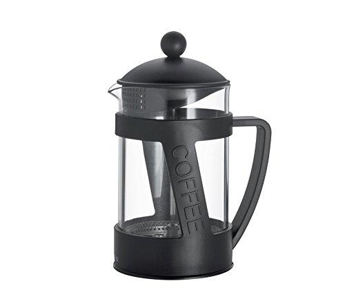 Cilio Kaffeebereiter Melina, Glas, schwarz, 12,5 x 12,5 x 22,5 cm