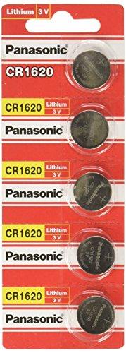Panasonic CR1620 Lithium-Knopfzellen, 3V, 5 Stück