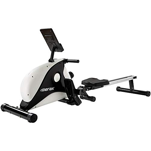 Coolautoparts Máquina de Remo Plegable Fitness para Casa Interiores con Freno Magnético 8 Niveles de Resistencia Pantalla LCD Capacidad Máx 130 kg [EU Stock]