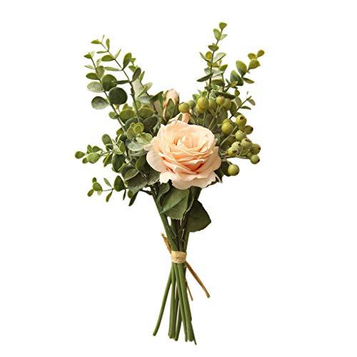 YWLINK KüNstliche Pflanze KüNstliche Pflanze Rosen-Hortensie-Blumen Bouquet Bunch Home Hochzeit Party Geschenk Warm Speichern Cafe Dekoration