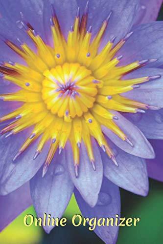 Online Organizer: Purple lotus internet address and password logbook