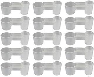 Fransande 15 botellas de agua de soda de plástico para pájaros, bebedero de pájaros, comedero, palomas, comedero para anim...