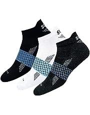 SOXCO Men's & Women's Combed Cotton & Polyester & Elastane & Nylon Socks (Pack of 3)
