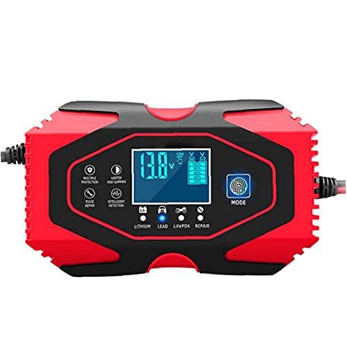 finebrand Coche Cargador De Batería De 12v 24v Automático Mantenedor De Mantener Y Reparar La Pantalla LCD con Más Tipos De Vehículos