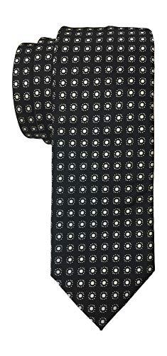 Dolce & Gabbana Krawatte, schmale Satin, Cremefarben