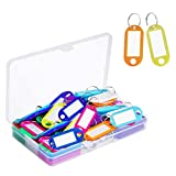 50 Pcs Keychain Tags Key Tags Assorted Color ID Label Tags Luggage Tags