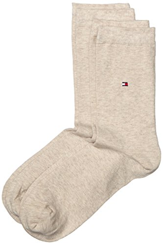 Tommy Hilfiger Damen Socken Th Women Sock Casual 2er Pack, Gr. 39/42, Beige (light beige melange 360)