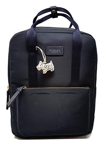 Radley Holly Avenue Large Backpack Rucksack Laptop Bag in Navy Polyester