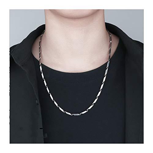 LTCTL Collar Hombre Titanio Acero Hip Hop Collar Personalidad Colgante Suéter Decoración Collar Regalo Día de San Valentín/Regalo de cumpleaños Regalo Collar (Color : Style C 55cm)