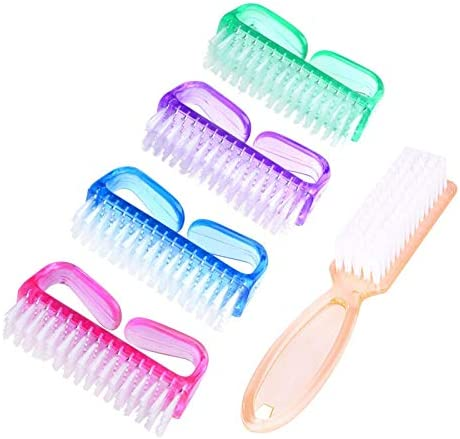 Handle Grip Nail Brush Hand Fingernail Scrub Cleaning Brushes for Toes and Nails Cleaner Pedicure product image