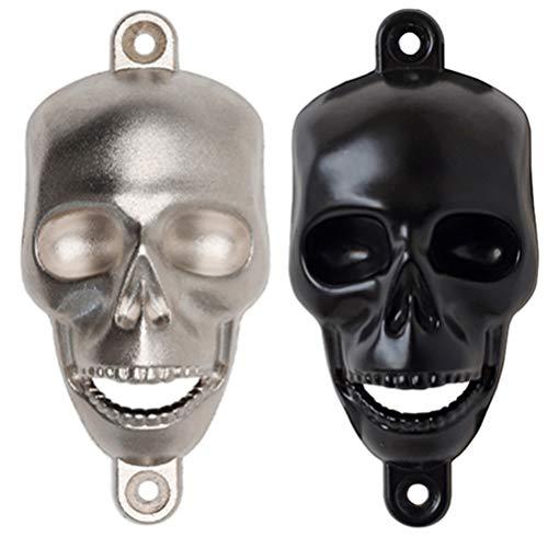 HEMOTON 2Pcs Décapsuleur Mural Crâne Ouvre-Bouteille Squelette pour La Décoration de Fête Dhalloween (Couleur Aléatoire)