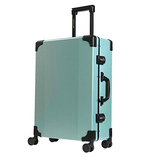 S型 グリーン/DL-2457K(RECT) TSAロック搭載 スーツケース トランクケース 超軽量 小型 (1〜3日用)