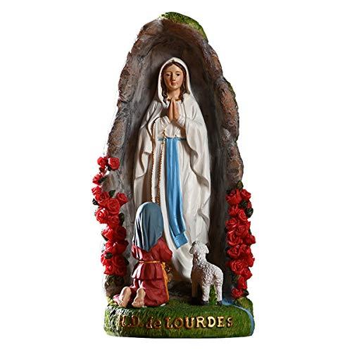 YJKJ Regalo catlico, Estatua de Resina de la Virgen Mara, Escultura Religiosa, Regalo de decoracin del Festival de la Oficina en casa