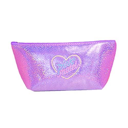 iuNWjvDU Forma Barco Caja de lápiz de Bolsa de la Pluma del Brillo Bolsa de cosméticos de Maquillaje Bolsa de Viaje para el Presente niña Regalo de cumpleaños - púrpura Casos de lápiz