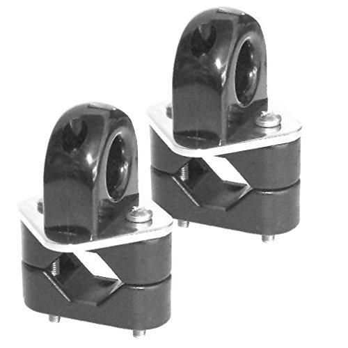 Versandbox24 2 x Leitöse für Reling Relingöse Reffleinen Fockroller Leitung Segeln