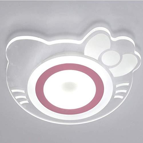 KFDQ Plafón LED de techo moderno minimalista habitación infantil dibujos animados Kt gato lámpara dormitorio lámpara de trabajo luz cálida 50cm - 32W