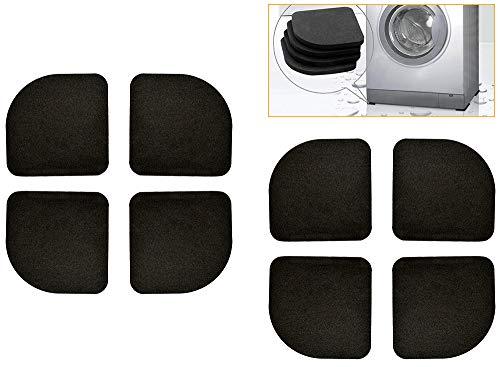 Chingde Tappeto lavatrice antivibrazione, 8 pezzi Tamponi lavatrice tappeto lavatrice antiscivolo cuscinetti per piedi per lavatrice per lavatrici frigoriferi elettrodomestici