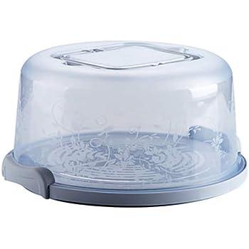 Torta Portatile e Cupcake Carrier con maniglia bagagli contenitore perfetto per il trasporto Torte Cupcakes torte o altri dolci-Azzurro