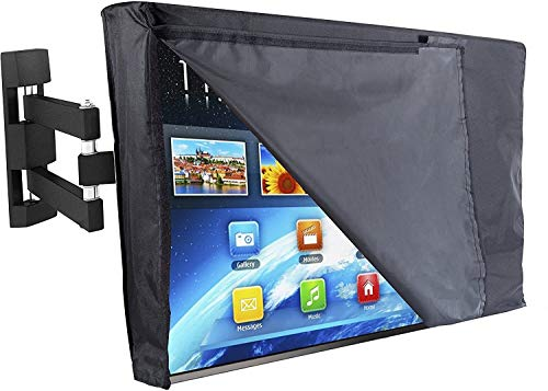 Outdoor TV Cover with Front Flap Weatherproof Material Four seasons (Color : Black, Size : 46' - 48')