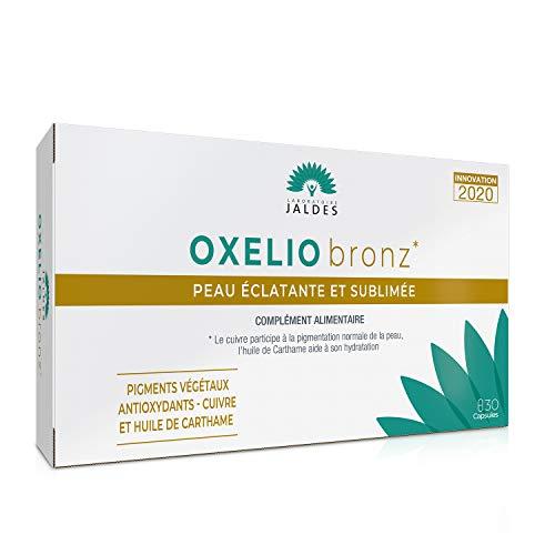 OXELIO Bronz | 30 Kapseln | SOLAR | Normale bis fahle Haut | Zur Vorbereitung und Sublimierung Ihres Sommers! | Mit Astaxanthin, Kupfer und Distelöl
