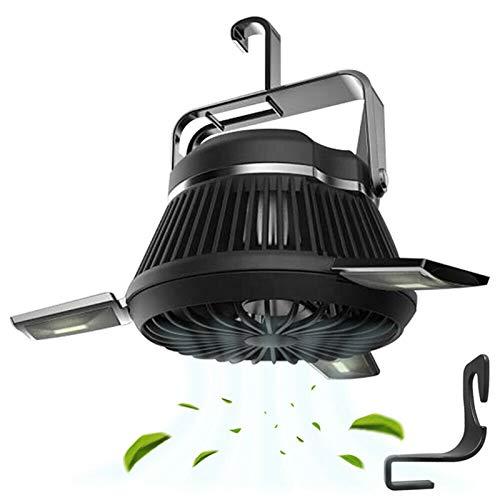 El ventilador eléctrico esencial en verano Cargador solar portátil Camping LED LED al aire libre Iluminación Campaña plegable lámpara de tiendas de campaña USB Linterna recargable Mosquito Repelente L
