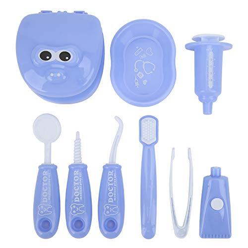 BOTEGRA Fournitures de Dentiste de Jeu de Simulation, Fournitures de Jeu de rôle de Dentiste Rondes et sans Danger, Mignonnes avec Une Finition soignée pour la Maison pour Les Enfants(Purple)