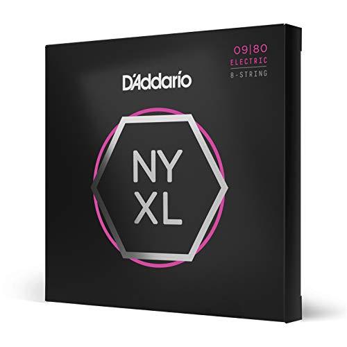Cuerdas para Guitarra Eléctrica D'Addario NYXL0980 Nickel Wound de 8 Cuerdas, Super...
