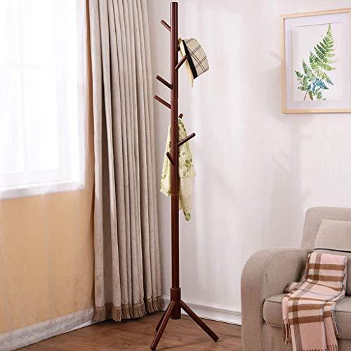 Manyao Escudo Dormitorio Simple Rack Percha de Madera Creativo sólido Perchero Inicio Moda Planta Estante 181 * 40cm.Plataforma de Montaje en Pared Plegable