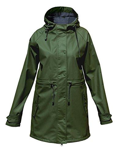 AS Bekleidungswerk GmbH Modas Damen Regenmantel - leicht tailliert, Farbe:Oliv, Größe:48/50