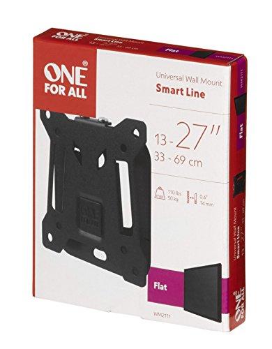 Support plat SMART de OneForAll - Écrans de 13 à 27pouces - Noir - WM2111