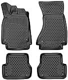 Walser Alfombrillas de Goma a Medida XTR compatibles con Audi A6 (C7) Avant 05/2011-09/2018, A6 Allroad 01/2012-09/2018, Alfombrilla Coche
